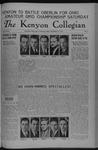 Kenyon Collegian - October 27, 1936