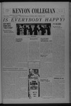 Kenyon Collegian - April 20, 1937