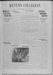 Kenyon Collegian - September 24, 1937