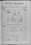 Kenyon Collegian - March 23, 1938