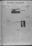 Kenyon Collegian - October 27, 1938