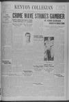 Kenyon Collegian - January 12, 1939