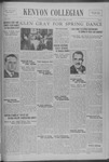 Kenyon Collegian - April 20, 1939