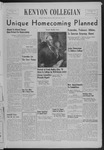Kenyon Collegian - September 29, 1939