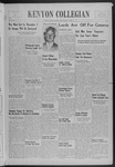 Kenyon Collegian - October 6, 1939