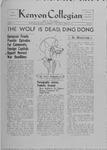 Kenyon Collegian - November 14, 1939