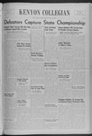 Kenyon Collegian - December 11, 1939