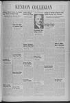 Kenyon Collegian - January 9, 1940