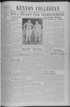 Kenyon Collegian - October 10, 1940