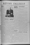 Kenyon Collegian - November 1, 1940