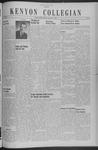 Kenyon Collegian - December 3, 1940