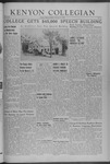 Kenyon Collegian - February 21, 1941
