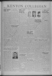Kenyon Collegian - February 28, 1941