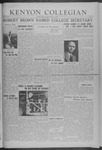 Kenyon Collegian - March 21, 1941