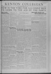 Kenyon Collegian - May 9, 1941
