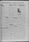 Kenyon Collegian - May 16, 1941