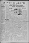 Kenyon Collegian - November 7, 1941