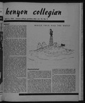 Kenyon Collegian - April 4, 1952
