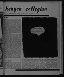 Kenyon Collegian - May 2, 1952