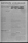Kenyon Collegian - December 11, 1953