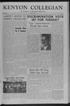Kenyon Collegian - May 21, 1954