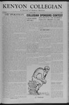 Kenyon Collegian - October 1, 1954
