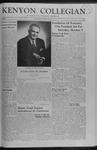 Kenyon Collegian - September 19, 1958