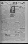 Kenyon Collegian - October 17, 1958