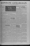 Kenyon Collegian - November 7, 1958