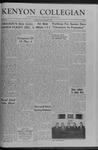 Kenyon Collegian - November 27, 1959