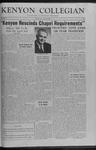 Kenyon Collegian - March 2, 1960