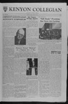 Kenyon Collegian - October 6, 1961