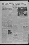 Kenyon Collegian - October 20, 1961