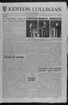 Kenyon Collegian - November 3, 1961
