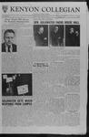 Kenyon Collegian - December 1, 1961