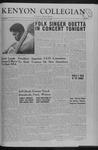 Kenyon Collegian - October 25, 1963