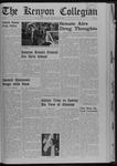Kenyon Collegian - October 18, 1968