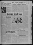 Kenyon Collegian - January 23, 1969
