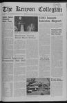Kenyon Collegian - May 8, 1969