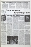 Kenyon Collegian - December 10, 1970