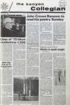Kenyon Collegian - May 6, 1971