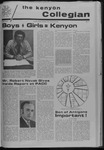 Kenyon Collegian - January 20, 1972