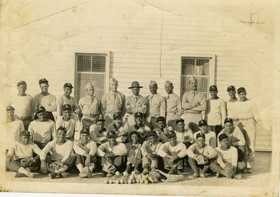 John Payne and his Army Base Baseball Team, ca. 1941