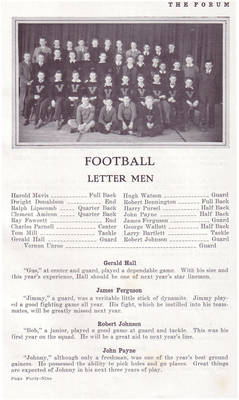 John Payne Football ca. 1934