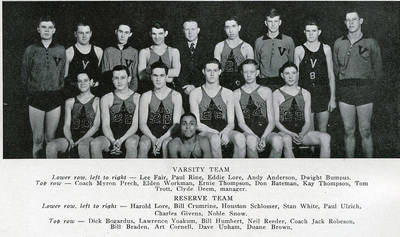 Stan White Basketball ca. 1937