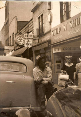 Lon Hammonds in Downtown Mt. Vernon ca. 1930s