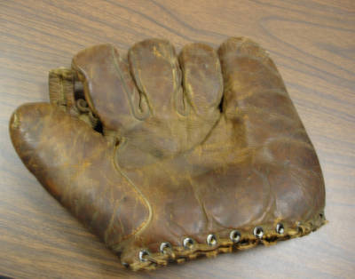 Hilbert Myers's baseball glove ca. 1930s