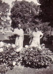 Tillie Sheffield and Bertha Hammonds in Garden