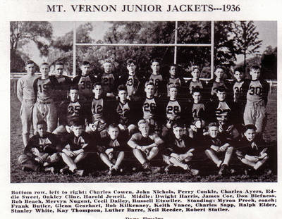 Stan White and Charles Cowen on Football Team ca. 1936