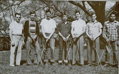 Carter on High School Golf Team ca. 1949